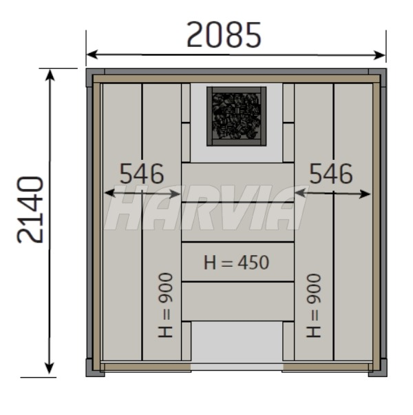 Готова сауна Harvia Solide Indoor S2122LD. Фото 7