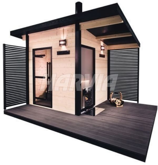 Готова сауна Harvia Solide Outdoor SLD01PS