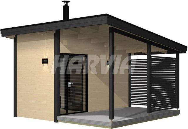 Готовая сауна Harvia Solide Outdoor SLD02PS