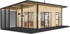 Готовая сауна Harvia Solide Outdoor SLD03PS
