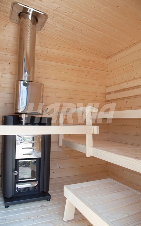 Готовая сауна Harvia Solide Compact Outdoor SLDC02PS. Фото 3