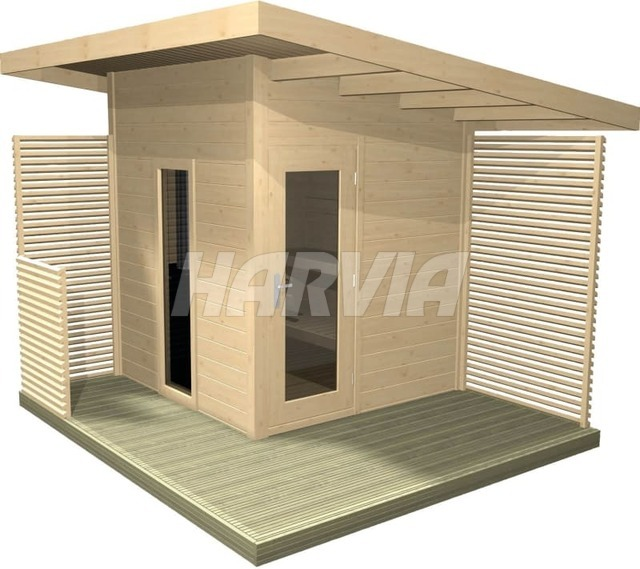 Готовая сауна Harvia Solide Compact Outdoor SLDC02PS