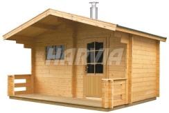 Готова сауна Harvia Keitele SO4000 з дров'яною піччю